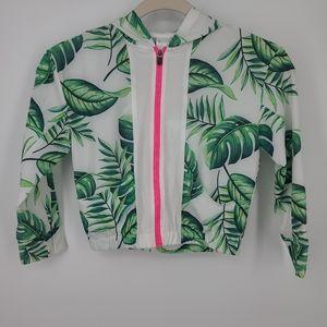 4/$25 Zella Athletic Full Zip Palm Leaf Jacket